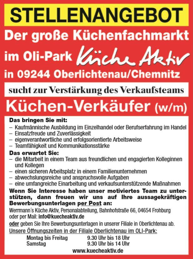 Stellenangebote Werrmann S Kuche Aktiv