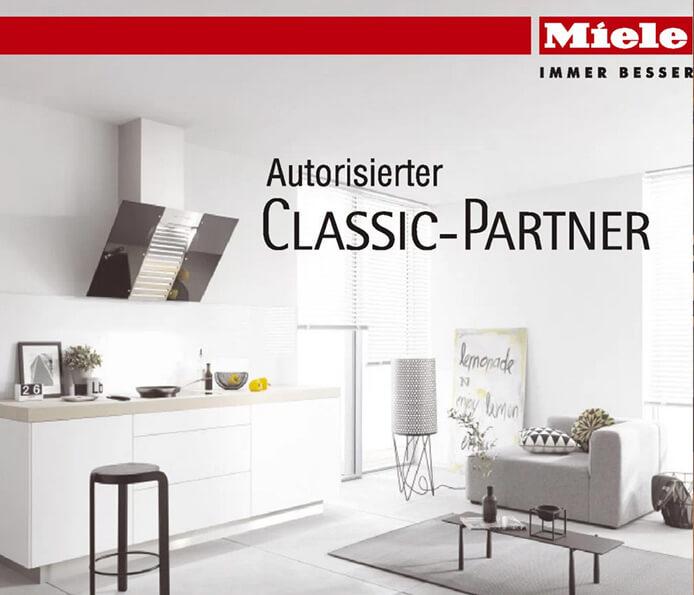 Das Bild zeigt Küche Aktiv als Autorisiter Classic-Partner von Miele